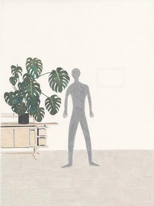 A Man, A Plant, A Rietveld Buffet, 2013 Color Pencil on Paper 21 x 30 cm