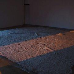 Go, Gentle Scorpio, 2014 Installation, Parallel Oaxaca Stainless steel mesh screen, recycled paper 410 x 450 cm